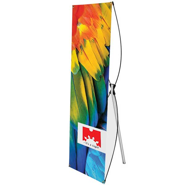 X-Banner Stand  inkl. banner 4+0 farver 80 x 200 cm