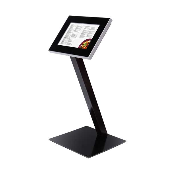Fritstående Outdoor Premium menu stander sort med LED A3