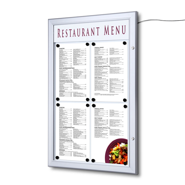 Opslagsskab Menu LED Indoor - Outdoor Magnettavle SCZ