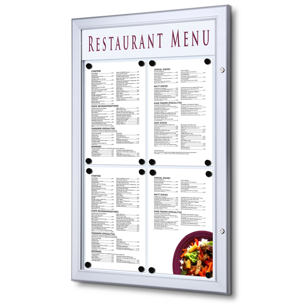 Opslagsskab Menu Indoor - Outdoor Magnettavle SCZ