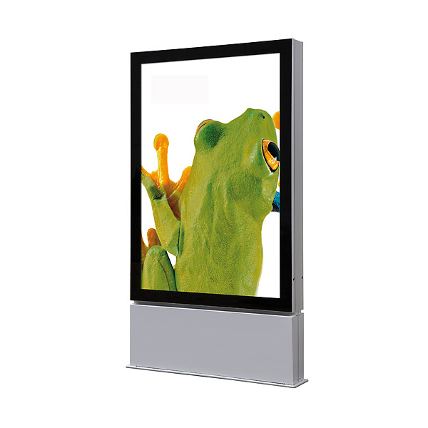 Outdoor Premium LED plakat display 102x152 cm fritstående - dobbeltsidet - IP56