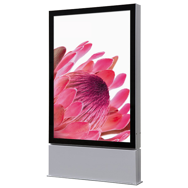 Outdoor Premium LED plakat display 120x180 cm fritstående - dobbeltsidet - IP56