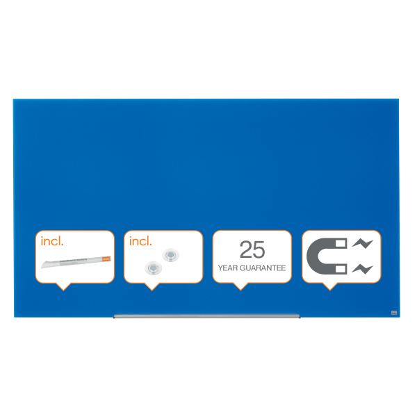 Whiteboard glastavle Nobo Widescreen 85