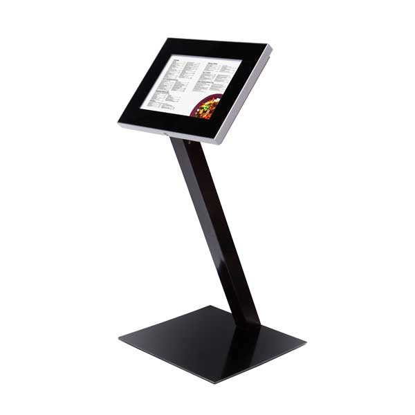 Fritstående Outdoor Premium menu stander sort med LED A2