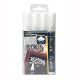 4 hvide kridt marker penne 6 mm Waterproof