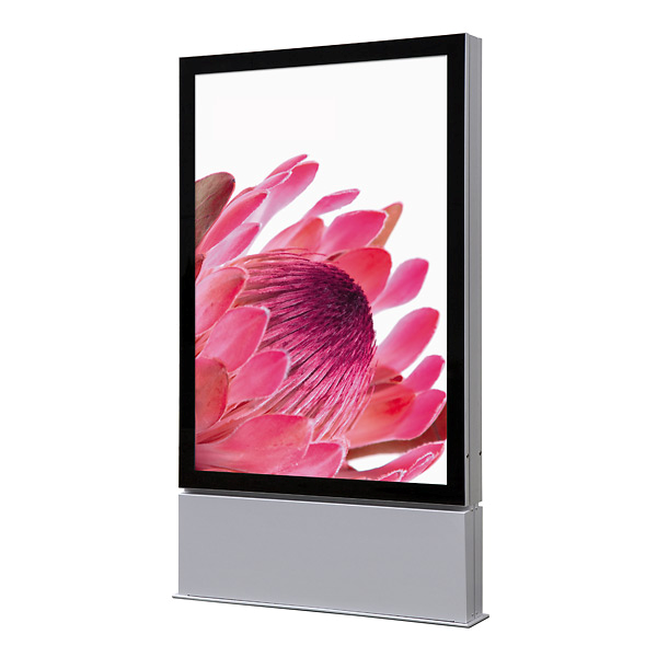 Outdoor Premium LED plakat display 119x175 cm fritstående - dobbeltsidet - IP56